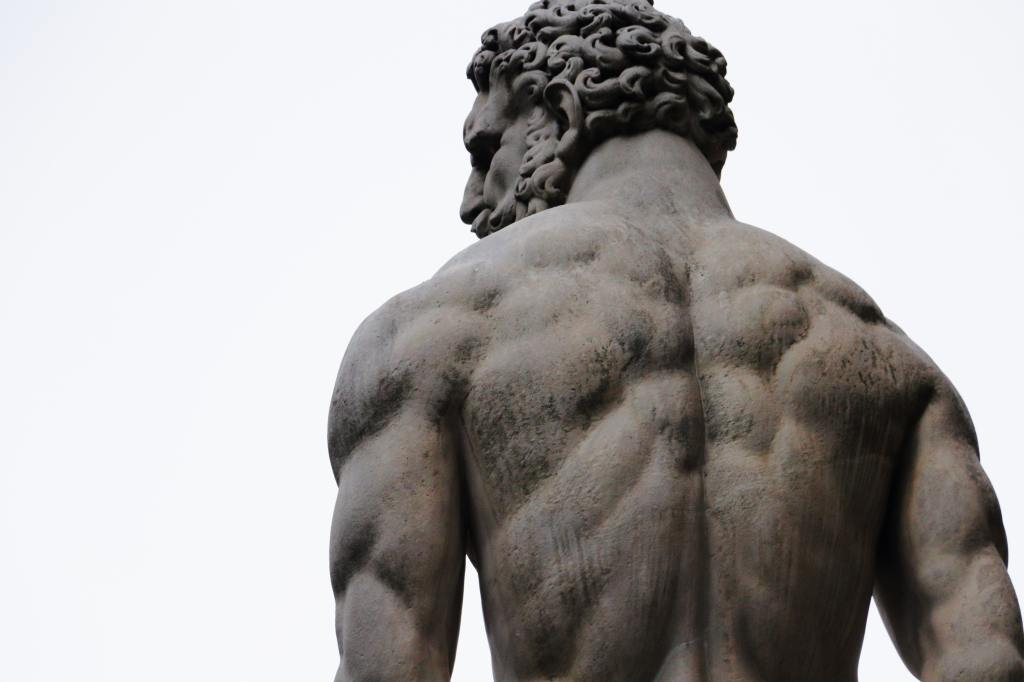 Statue of Hercules from behind